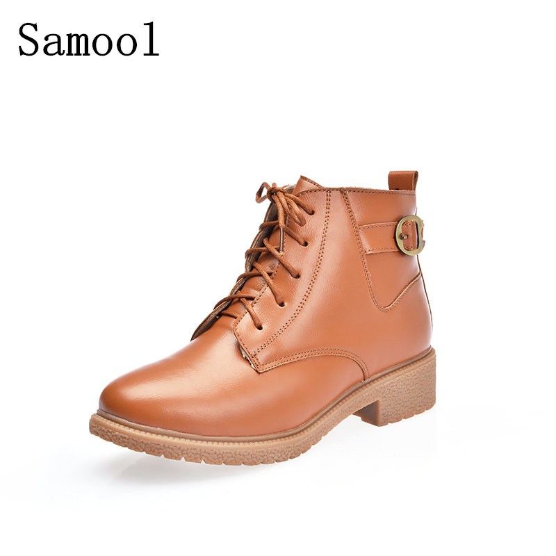 2017 Rubber Shoes Women Short Boots For Girls Ladies Walking Women  Ankle Boots Autumn Winter Ankle Lace-up Martins Woman pu leather martins women boots snow boots military girls for casual walking shoes winter femme bota 2017 7687