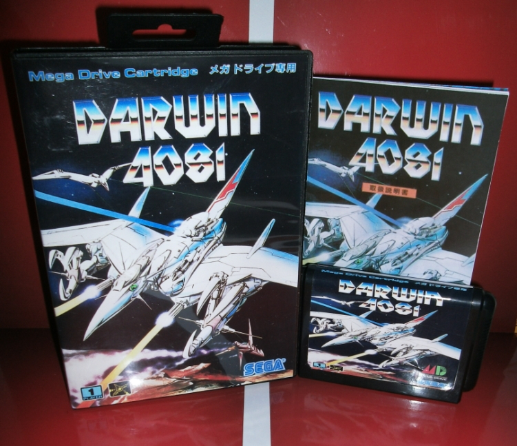 Darwin 4081 Japan Cover with box and manual for Sega MegaDrive Genesis Video Game Console 16 bit MD card