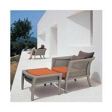 Прямая с фабрики по последнему дизайну плетеная кушетка Открытый Солярий уникальный мебель из ротанга диван-кровать