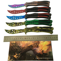 Butterfly Knife Training Stainless Steel Knife Butterfly CS GO Knife Counter Strike Game Folding Knife No