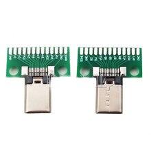 Mâle Type c D'essai de CARTE PCB Universel avec USB 3.1 Port 20.6*10MM panneau D'essai