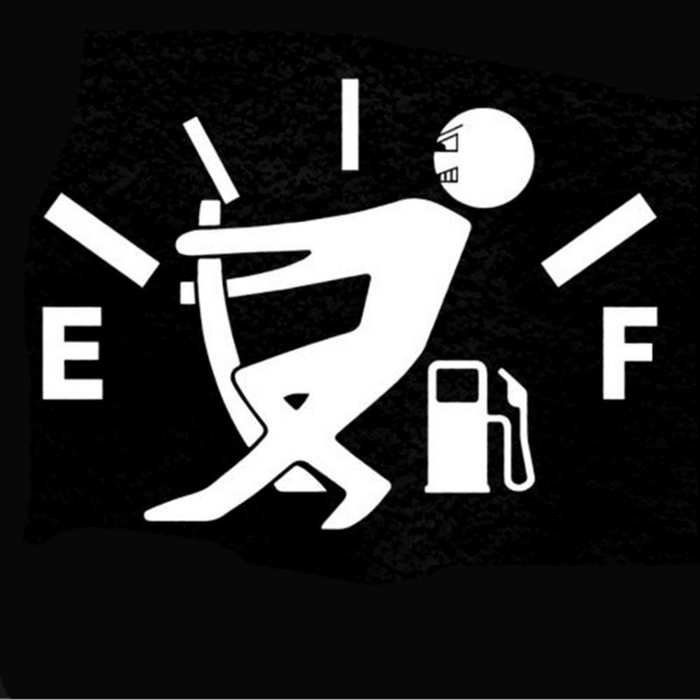 Car Styling High Gas Consumption Decal Fuel Gage Empty Stickers For