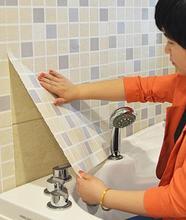 Di spessore carta da parati autoadesiva pellicola di olio da cucina adesivi murali stanza da bagno balcone impermeabile carta da parati mosaico adesivi per piastrelle adesivi