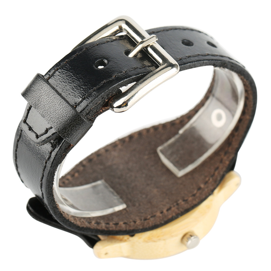 Steampunk Men Wooden Watch Skeleton Elk Head Carving Dial Black Punk Bracelet Creative Teenagers Wood Wristwatch Cool Gift Clock (5)