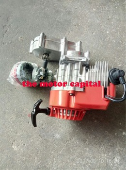 49cc 50cc Performance Motor 2-stroke Mini RED Dirt Bike ATV Engine with Gear Box 11T T8F Sprocket New Metal Recoil Racing AIR