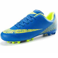Outdoor Long Spikes Men Soccer Shoes Sneakers Cleats Turf Male Sport Football Shoes Rubber Men Boys Trainers Foot Ball Black