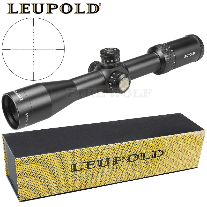 Leupold 3.5-15x40 Sfy Brand Hunting Rifle Sight Mirror Point Lighting Side Wheel Monocular Collimator Riflescope Laser Scope
