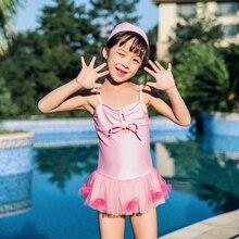 Для девочек Плавание костюм дети Одна деталь детская одежда для пляжа розовый Плавание одежда летний купальник для детей Единорог модели Плавание одежда
