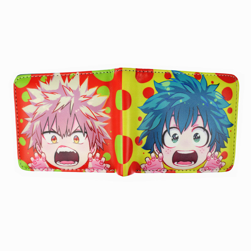 FVIP My Hero Academia Wallet Short Purse Anime Cartoon Wallets for Young With Card Holder Coin Pocket