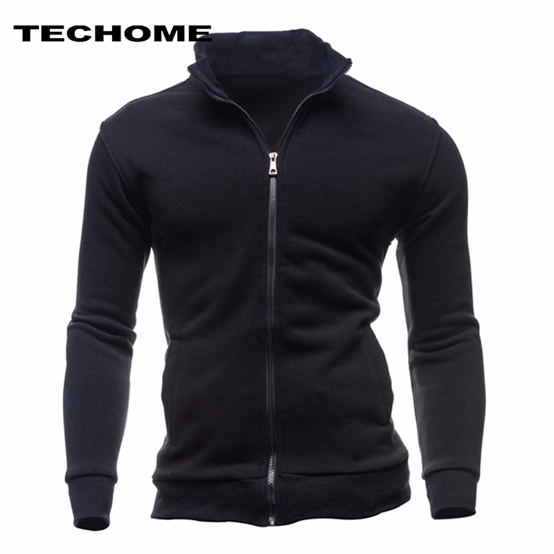2018 Sweatshirts Men Hoodies Cardigan High Collar Brand Male Hoody Hip Hop Autumn Winter Sportswear Hoodie Men Zipper sweatshirt