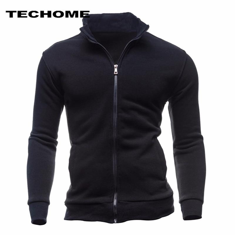 2018 Sweatshirts Men Hoodies Cardigan High Collar Brand Male Hoody Hip Hop Autumn Winter Sportswear Hoodie Men Zipper sweatshirt