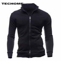 2018 Sweatshirts Men Hoodies Cardigan High Collar Brand Male Hoody Hip Hop Autumn Winter Sportswear Hoodie