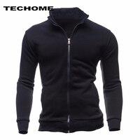 2018 Sweatshirts Men Hoodies Cardigan High Collar Brand Male Hoody Hip Hop Autumn Winter Sportswear Hoodie