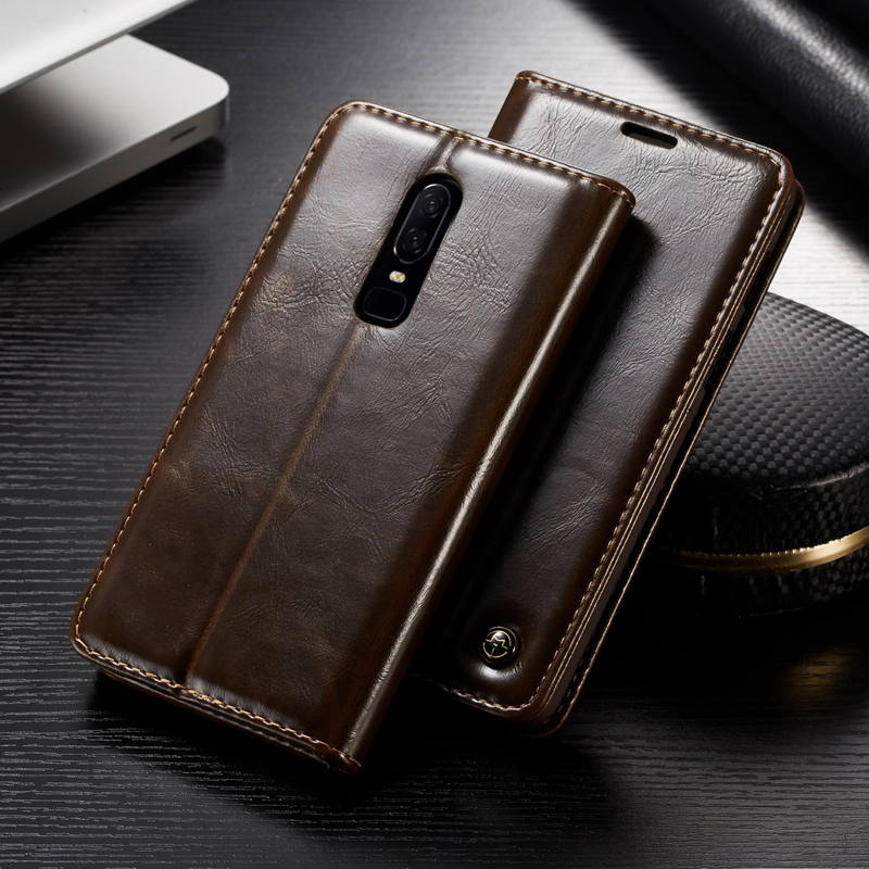 Oneplus 6 Case Oneplus 6 Cover 6.28 inch Real Leather Wallet Cover For Oneplus 6 1+6 One Plus 6 Oneplus6 Case Coque Capinha