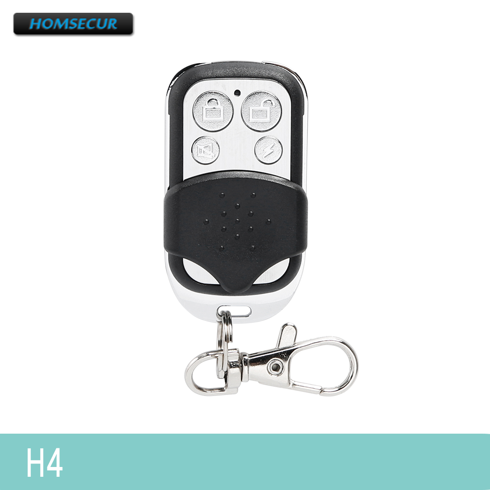 HOMSECUR 433MHz RF Remote Control Keyfob H4 For Our Home Security Alarm System