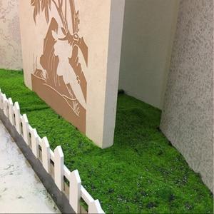 Image 2 - Искусственный мох, искусственная декоративная трава, зеленые растения для рождества, искусственное растение «сделай сам», украшение для стен, сада, 1 м