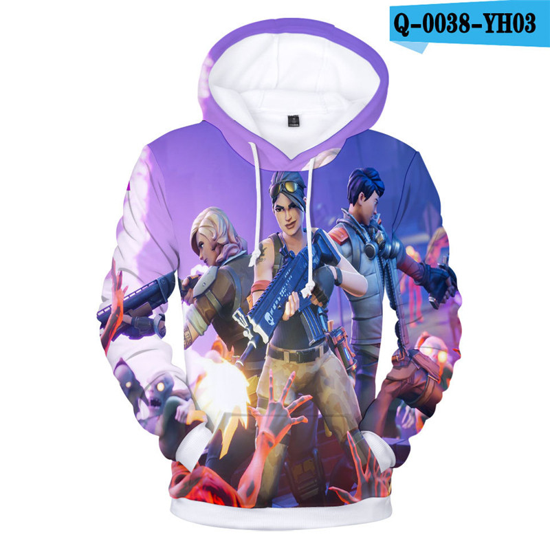 Fortnit Battle Royale Hoodie Sweatshirt Causal Sweatshirt Pullover Women Clothes 3D Print Game Clothings Popular Clothes Game
