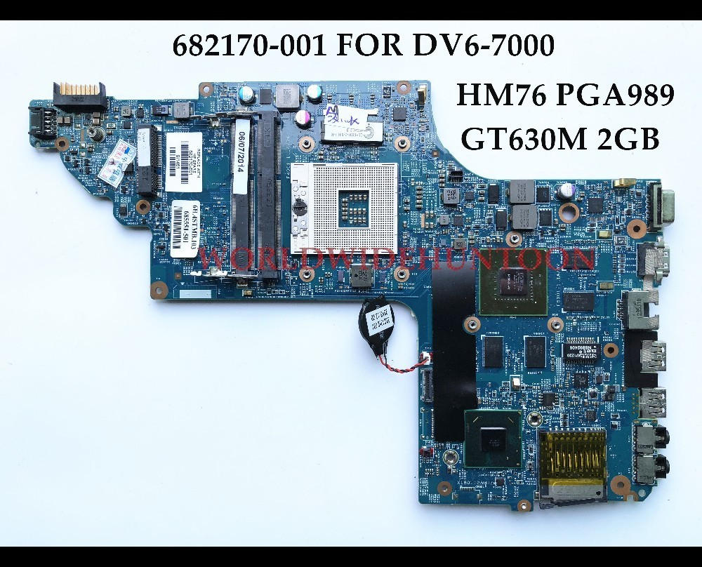 High quality Replacement Laptop Motherboard for HP Pavilion DV6-7000 682170-001 HM76 PGA989 DDR3 GT630M 2GB 100% Fully Tested high quality laptop motherboard fit for hp pavilion dv7 4000 dv7 4100 laptop motherboard 615688 001 100