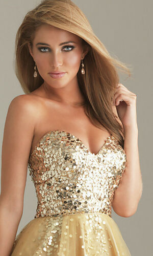 Gold sequin prom dress Embellished Bodice Short Gold Prom Dress in Cocktail Dresses from Weddings Events