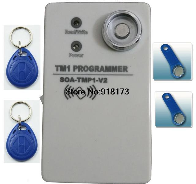 Estável e TM1990B TM1990 duplicador RW1990 ibutton TM sensitiy handheld 125 Khz EM4100 rfid copiadora EM4305 T5577