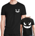 Pocket Monster Pokemon Gengar Cartoon Anime t shirts man 2017 Summer hip hop casual Short Sleeve t-shirt For Men streetwear mma