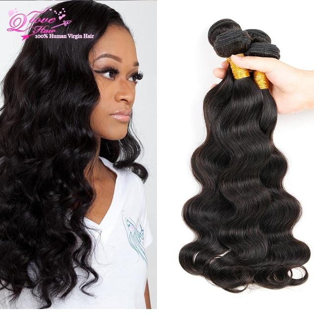 Manojos de Cabello barato Peruano Virgin Hair Body Wave 4 Bundles Pelo Peruano Bundles Grado 7a Qingdao Hot Hair Products