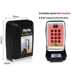 Image 3 - Металлический шкафчик для ключей с кодовым замком, Настенный Шкафчик для ключей с кодовым креплением, Keepr, ящик для хранения для домашней компании, фабричное использование
