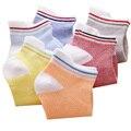 2015 verão estilo doce cor de Malha de algodão menino meninas Meias Curtas barco meias crianças meias para 1-9 anos crianças meias 10 pcs = 5 pares