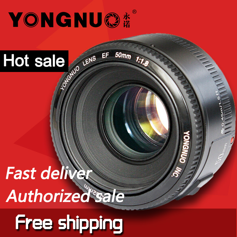 YONGNUO 50mm Lens fixed focus lens EF 50mm F/1.8 AF/MF Large Aperture Auto Focus Lens For Canon