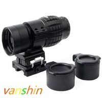 3x Magnifier Sight Type Tactical Sight Scope With Flip UP Mount 20mm weaver rail