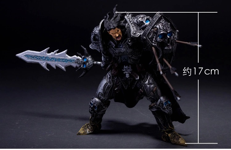 Famous Online Game Toy DC Unlimited Series 2 7 inch Human Warrior [Archilon Shadowheart] Action Figure WOW PVC Toy Figure KB0705 airsoft adults cs field game skeleton warrior skull paintball mask