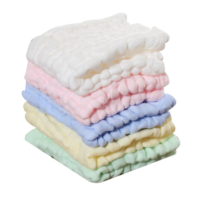 New 1pc 30 * 30cm Small Square Soft Cute Baby Towel Handkerchief for Infant Kid Children Feeding Bathing Face Washing