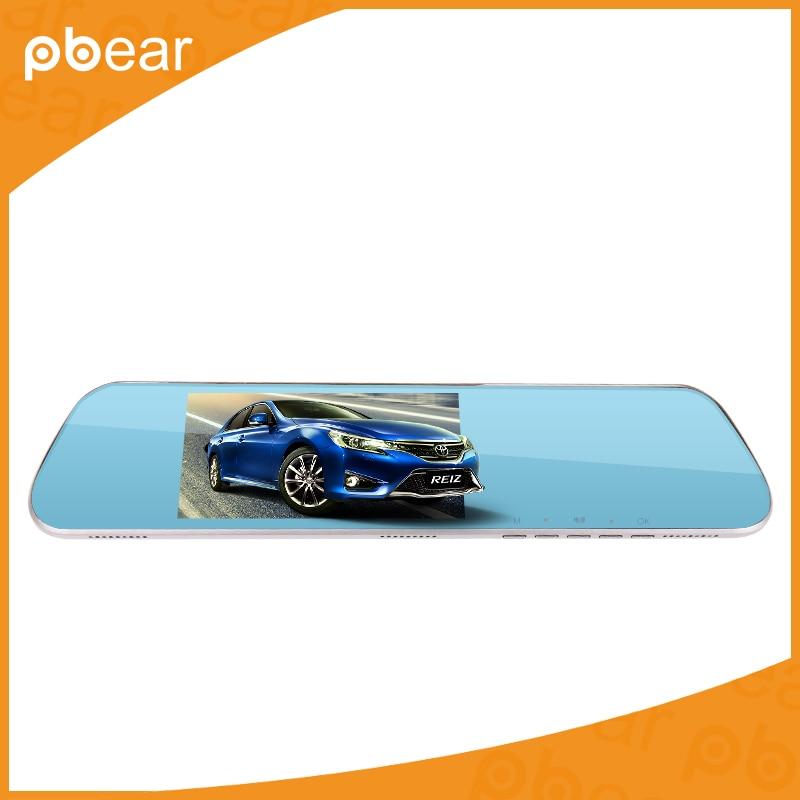 ФОТО Original Pbear HD  Cycle Recording Dual-lens Driving Recorder Night Vision Rear View Mirror Car DVR Camera Camcorder