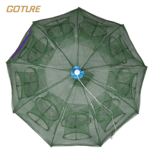 Goture Folding Fishing Net Shrimp Cage Nylon Cast Net Fishing Net Cage