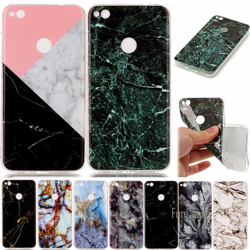 Etui Capinhas Para For Huawei P8 Lite P8Lite 2017 Cases Silicon Marble Stone Cover Case Soft Shell Hoesje Capa Coque Carcasa