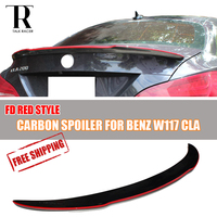 W117 C117 Red Line FD Style Carbon Fiber Rear Trunk Spoiler For Mercedes Benz C117 W117