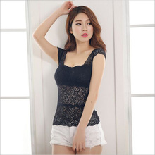 Long and Short 2 Design Sexy Slender Elastic Girls Women Lace Lingerie Underwear Tank Camisole Bodycon Tube Tops CL53085