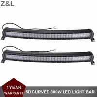 2pcs 33 300W 5D Curved Offroad LED Work Light Bar Car SUV Truck Trailer Wagon Pickup