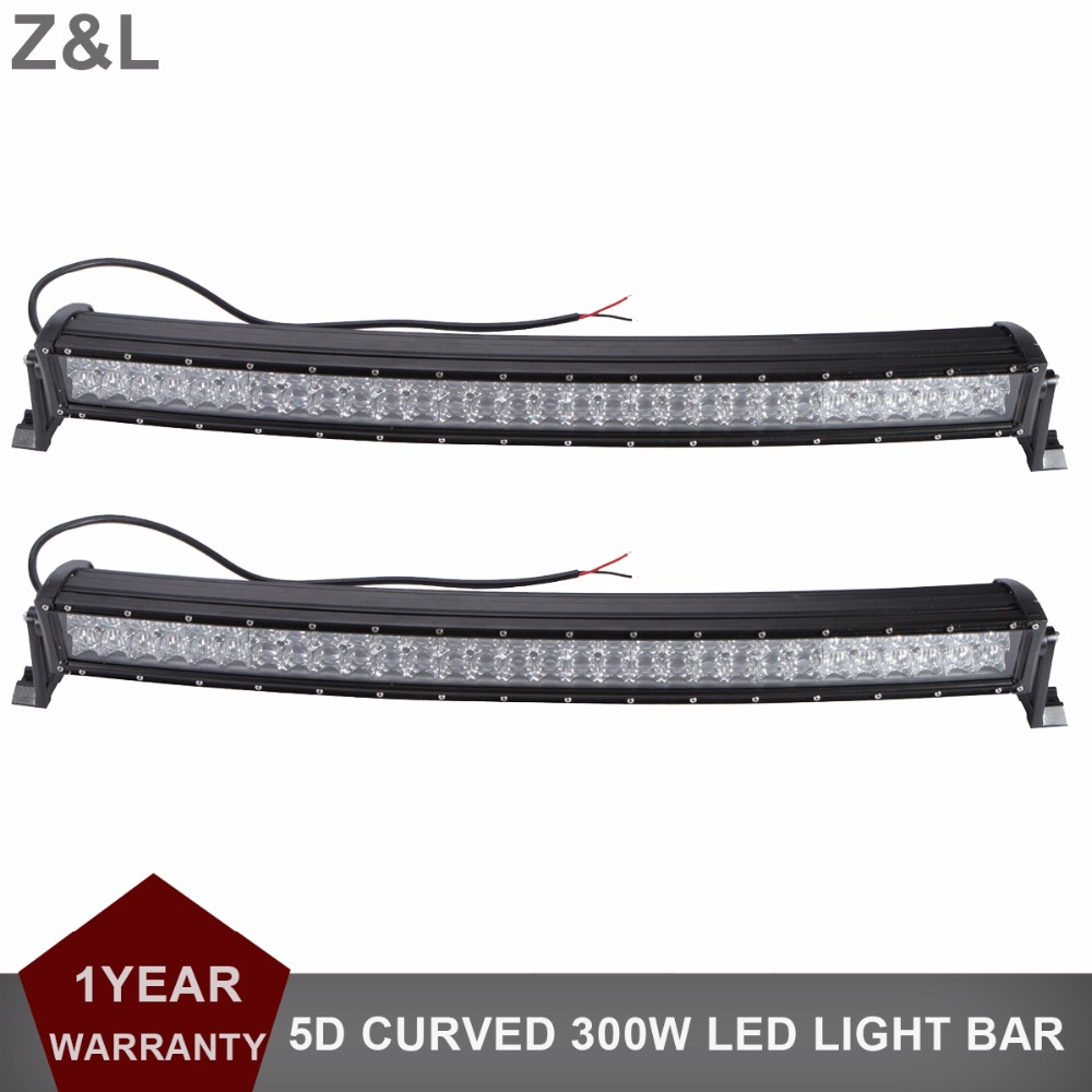 2pcs 33 300W 5D Curved Offroad LED Work Light Bar Car SUV Truck Trailer Wagon Pickup 4WD AWD 4X4 Auto UTE UTV 12V 24V Headlight offroad 234w led light bar 37 12v 24v off road atv auto suv ute 4x4 truck trailer tractor boat yacht wagon pickup headlight