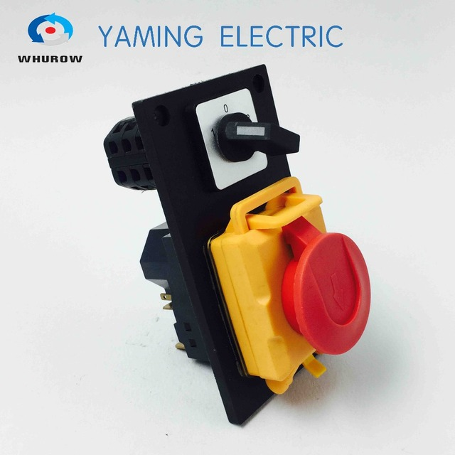 Electromagnetic switch rotary combined switch 7 Pin On Off 16A 230V with protection cover lock waterproof YCZ4 C