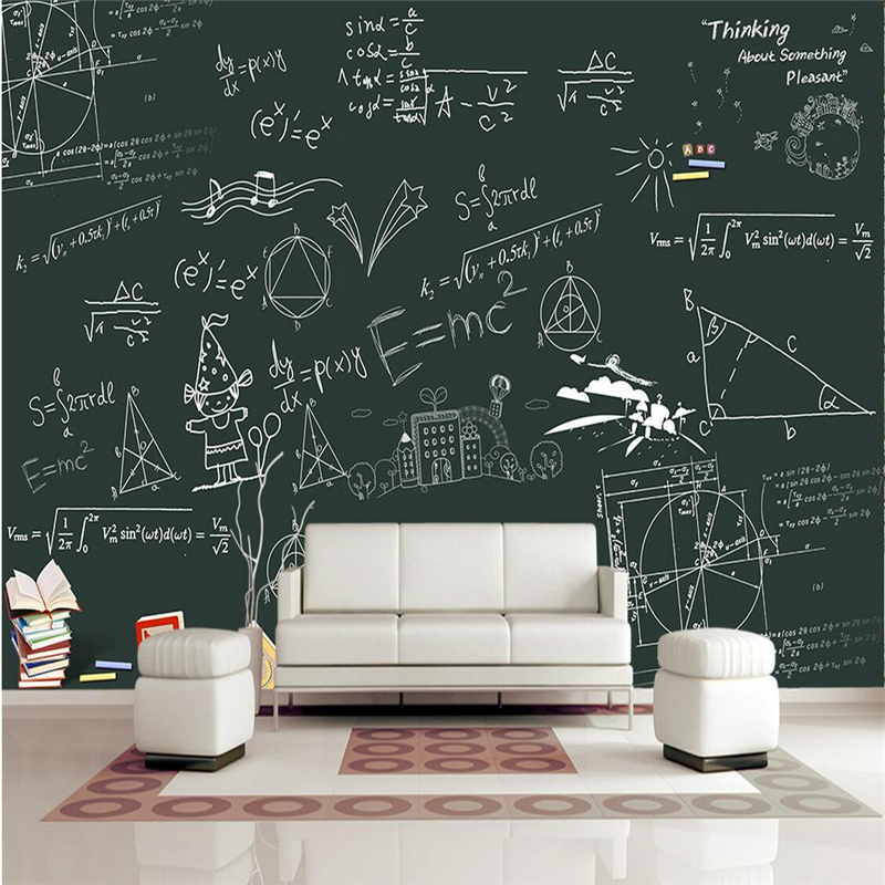 Custom Wallpaper-3d Mathematical Formula 3d Wallpaper Murals Printing 3d Photos TV Background Restaurant Wall Mural Wallpaper