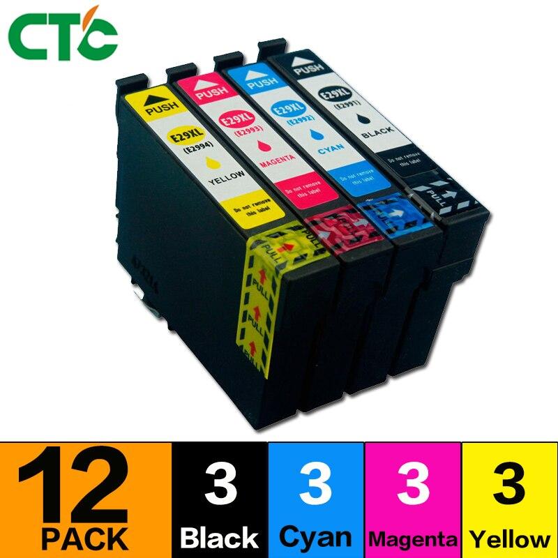 12x29 XL T29XL T2991 Tinte Patronen Kompatibel für XP235 XP-332 XP-335 XP432 XP-435 XP-355 drucker inkjet