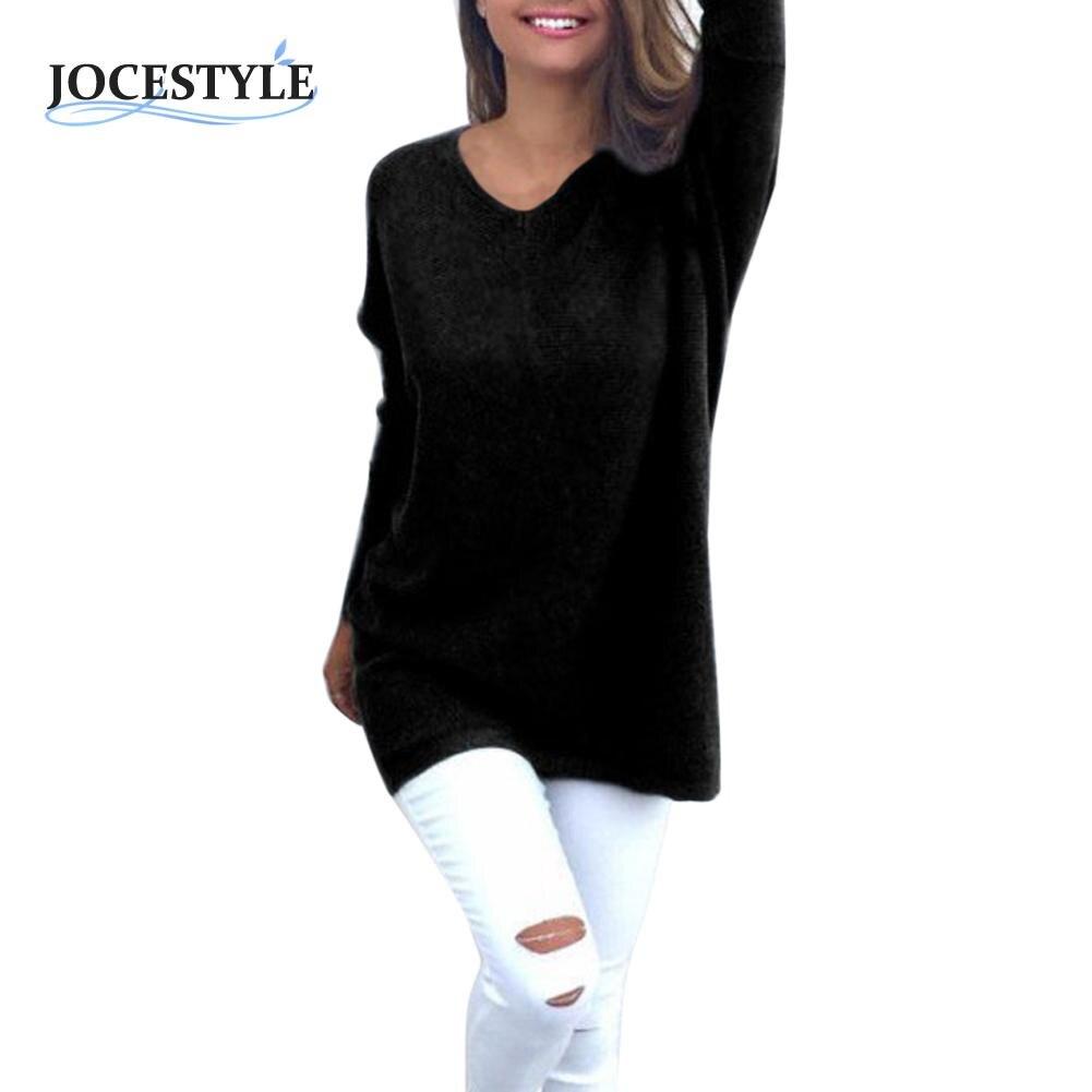 Mujeres Sueltan Pullover Géneros de Punto Del Suéter Jumper Camiseta Chaqueta de