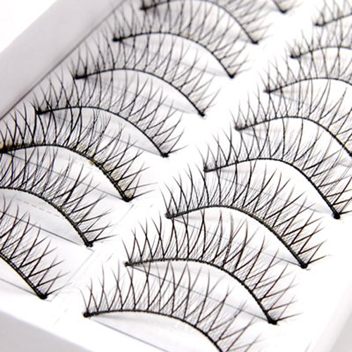 20 pairs false eyelash eyelashes end intersects black eye makeup natural eyelash 20 PAIRS