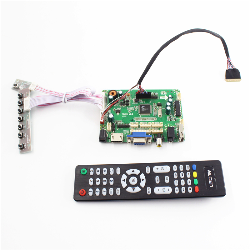 VGA DVI NEW  LCD Controller Board lvds Kit For LTN160AT06 H01 HDMI Audio