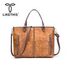LIKETHIS Brand 2019 Fashion Women Handbag Luxury Lady Hand Bags Shoulder Bag Casual Totes Messenger Bag High Quality Vintage Hot