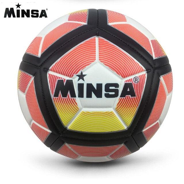 Nueva Marca MINSA de alta calidad A + + balón de fútbol estándar PU pelota de entrenamiento bolas de pie 2019 tamaño oficial 5 voetbal