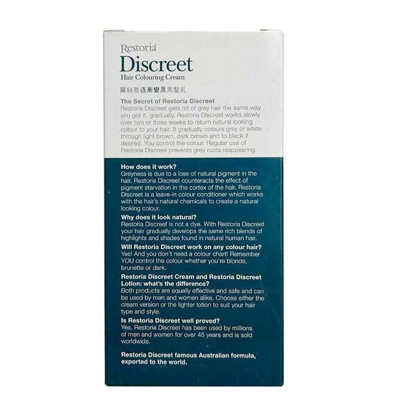 Original Restoria Discreet Restores Hair Colour Cream 150ml Grey Hair Treatment Anti Dandruff Hair Conditioner Care Easy Use