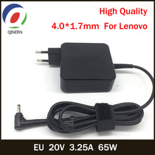 QINERN EU 20V 3.25A 65W 4.0*1.7mm AC Laptop Charger For Lenovo IdeaPad 100 15 B50 10 YOGA 710 510 14ISK Notebook Power Adapter