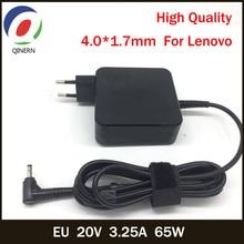 QINERN EU 20 в 3.25A 65 Вт 4,0*1,7 мм зарядное устройство переменного тока для ноутбука для lenovo IdeaPad100-15 B50-10 Йога 510-14 зарядное устройство для ноутбука адаптер питания